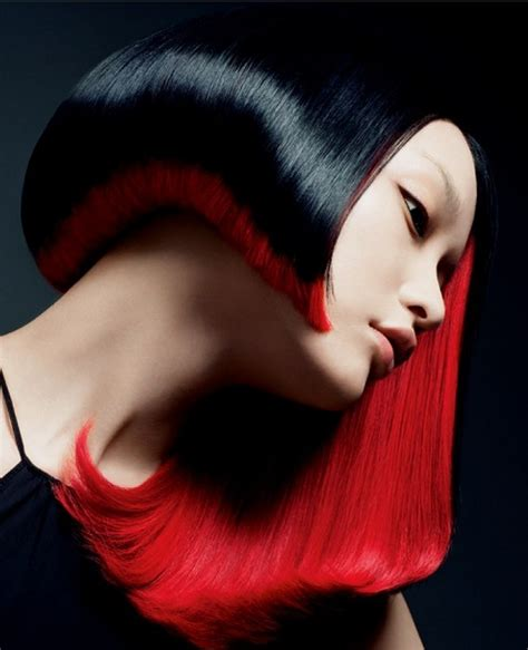 hairstyles red and black hair glossy black and red hair hair colors ideas