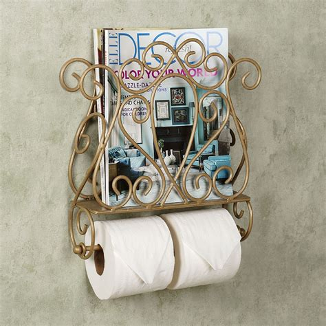 wall mount magazine rack with toilet paper holder decor