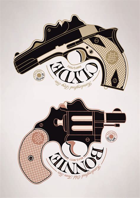 bonnie and clyde tattoos ideas bonnie clyde gin on behance