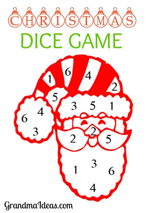 christmas dice game grandma ideas