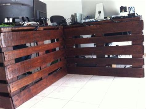 diy rustic office desk pallet office desk plan pallets designs