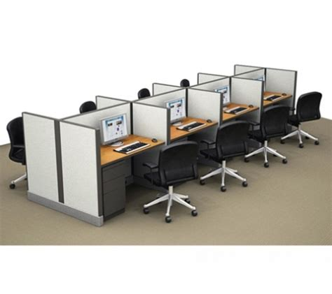 Office Cubicle Desk Clusters Of 8 Workstation Cubicle Telemarketing Stations Contemporary Office Desks Buy
