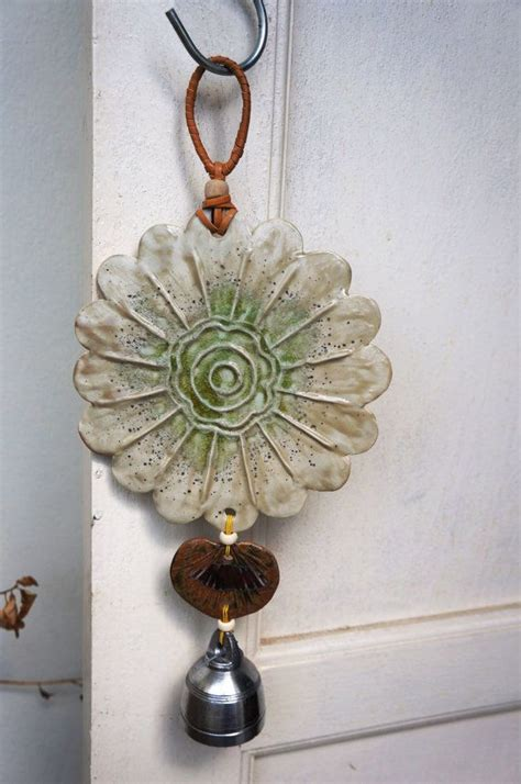 Handmade Wind Chimes - handmade ceramic wind chimes designed with organic form of