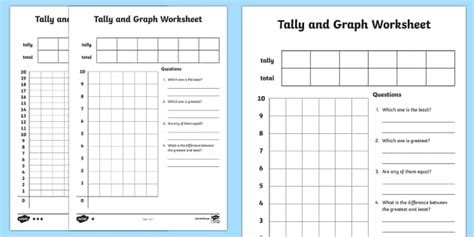 tally card template tally and graph worksheet activity sheet template tally