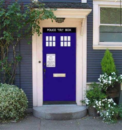 doctor who tardis front door home