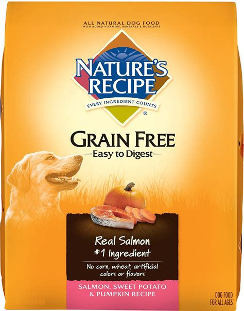 natures recipe food nature s recipe grain free salmon sweet potato pumpkin recipe food 24 lb