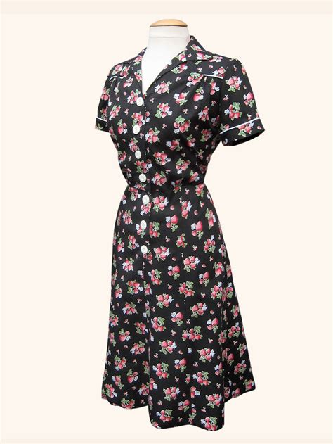 style dresses 1940s style tea dress strawberry from vivien of holloway