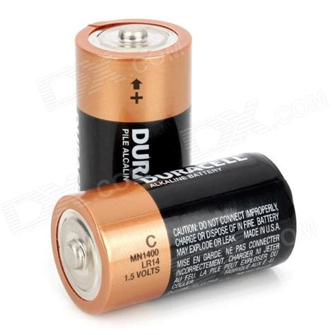duracell 1 5v c type mn1400 lr14 alkaline battery black 2 pcs free shipping dealextreme