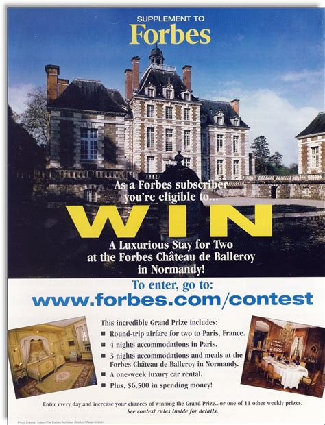 Magazine Contests And Sweepstakes - forbes magazine promotional contest jerry mctigue copywriter