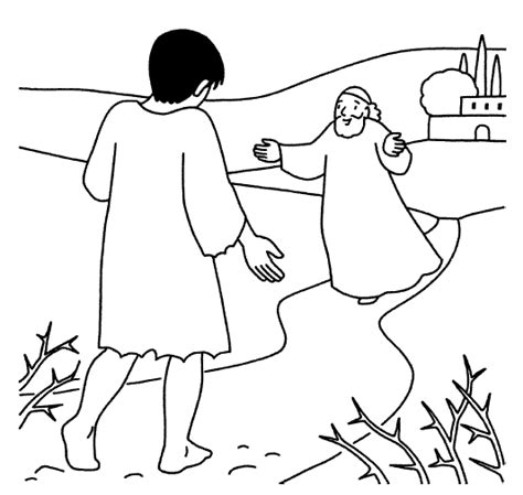 Free Coloring Pages Of The Lost Son Prodigal Coloring Page