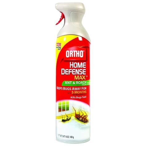 ortho home defense max 16 oz aerosol ant and roach killer