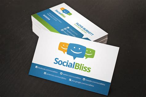 social media comment cards templates social media business card business card templates on