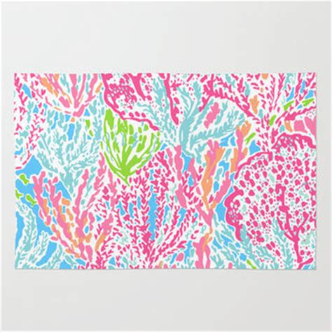 lilly pulitzer rugs lets cha cha lilly pulitzer style area from society6 room