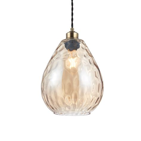 Clearance Pendant Lighting Endon 60298 1 Light Cognac Tinted Glass Non Electric Pendant Lighting Clearance