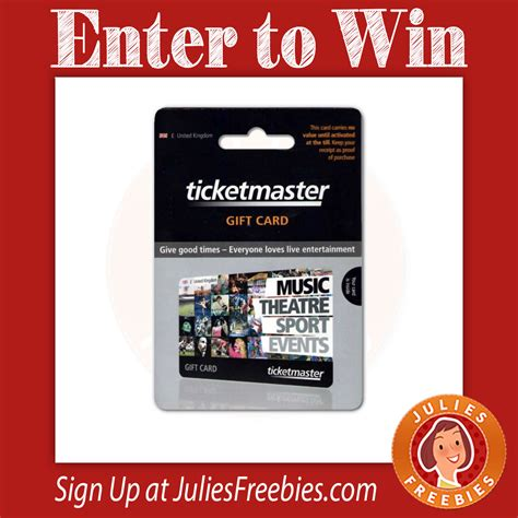 Where To Get Ticketmaster Gift Cards - win a 600 ticketmaster gift card julie s freebies