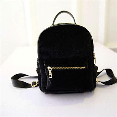 small backpack gold velvet mini backpack korean leisure