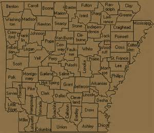 Arkansas County Outline Map by Arkansas Counties Outline Map