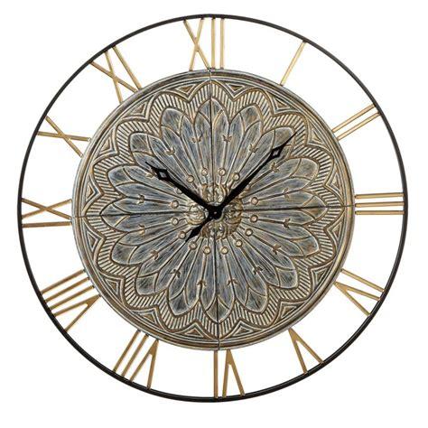 gold medallion wall clock 130537