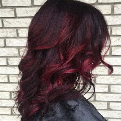 pictuted of red highlights on dark hair with spiky cut 50 spicy red hair color ideas hair motive hair motive