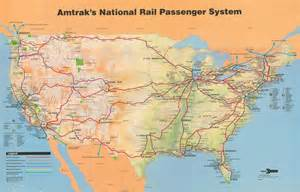 Amtrak Train Map by Amtrak System Map 1993 Amtrak History Of America S