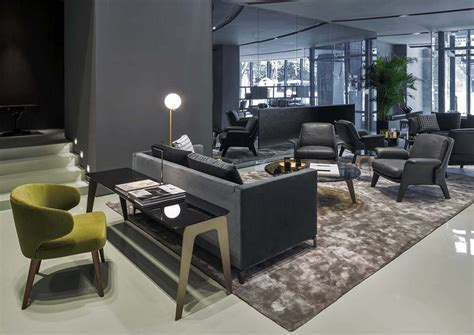 Livingroom Lamp minotti new showroom a new showroom at shanghai by domus