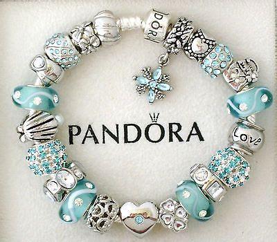 Ln C Kirana Bracelet Silver authentic pandora silver charm bracelet blue aquamarine