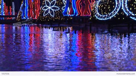 christmas lights in japan stock video footage 1057556