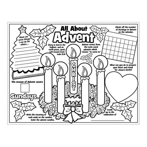 coloring pages religious education paper color your own all about the advent posters