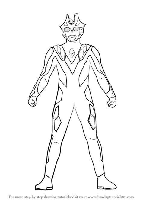 Learn How to Draw Ultraman Xenon (Ultraman) Step by Step