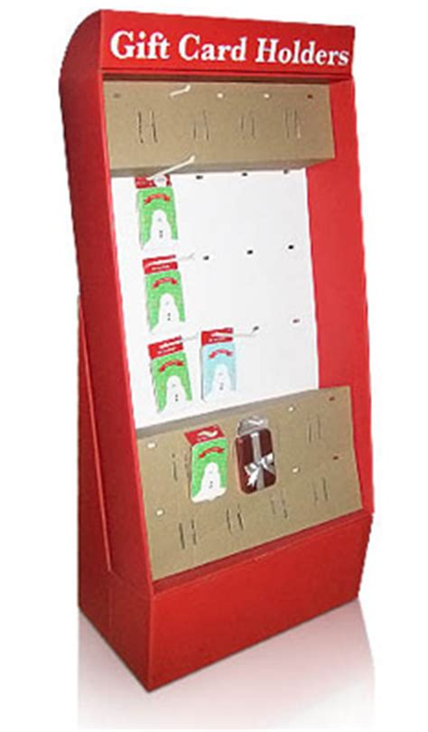 Gift Card Display Rack by Cardboard Floor Display Stand For Gift Card Holders