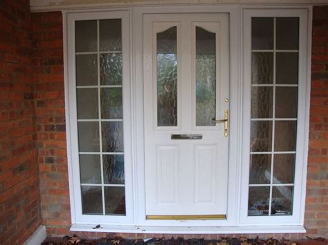 Half Glazed Exterior Doors Upvc White Half Glass Front Door With Frame Glazed Georgian Style Side