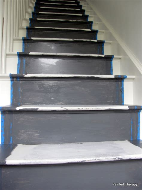 painted stairs painted therapy painting your stairs