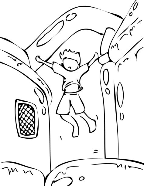 bouncy castle coloring page bouncy house coloring page handipoints