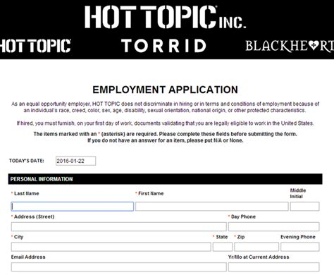 Topic Application How To Apply For Topic At Hottopic