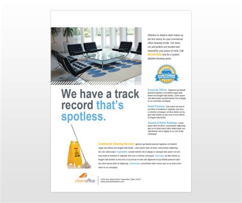 Commercial Cleaning Flyer Templates document moved