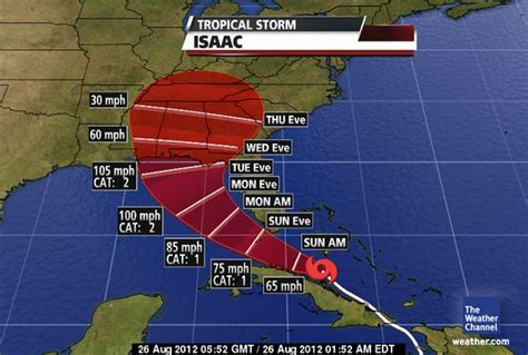 weather channel hurricane projected path