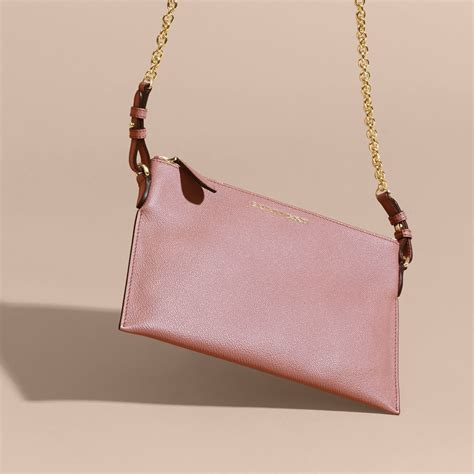 Tas Burberry Ribbon Set 2 In 1 Gold Series Jj 4725 1 leather clutch bag with check lining in dusty pink burberry united states