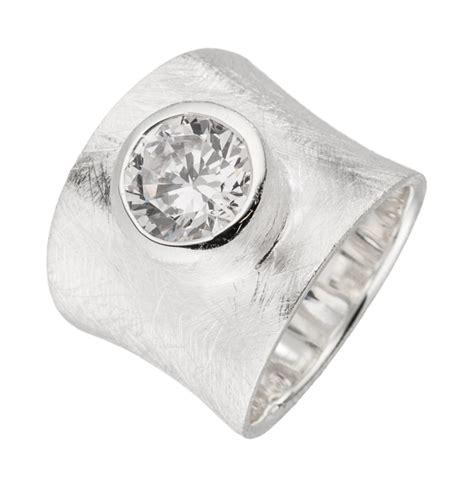 Silber Ringe by Silberring Gefrostete Oberfl 228 Che Klar Wei 223 Er Zirkonia
