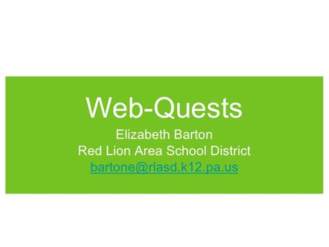 School District Search By Address Web Quest Presentation