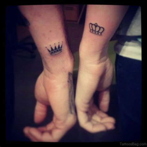 matching crown tattoos for couples 40 matching couples tattoos for wrist