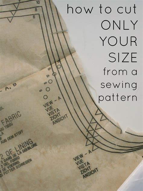 Sewing Pattern Sizes | sewing circle how to cut out your size from a pattern and