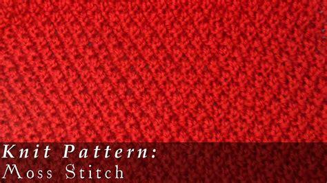 knit moss stitch moss stitch moss stitch knit