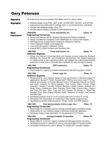 electronic technician resume objective electronic