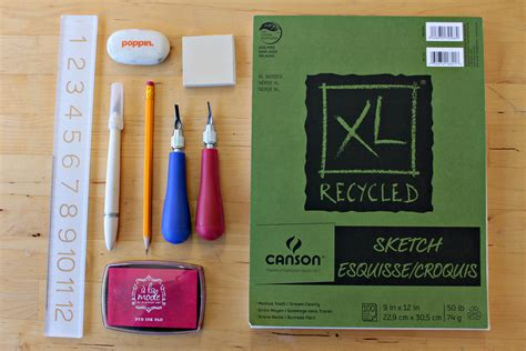 rubber st carving kit how to make a diy carved rubber st dear handmade