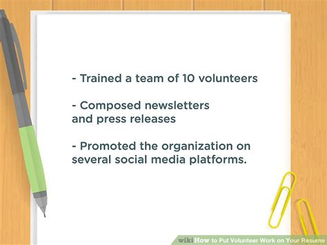 how to put volunteer work on your resume 10 steps with pictures