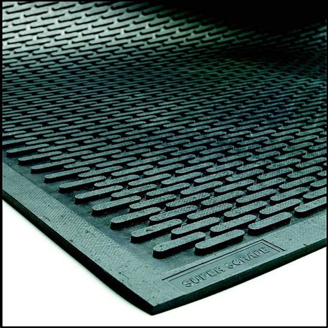 Super Scrape Door Mat   Non Slip Outdoor Rubber Mat
