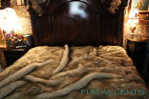 king size fur comforter king queen plush gray wolf huskie fur bedspread by furaccents