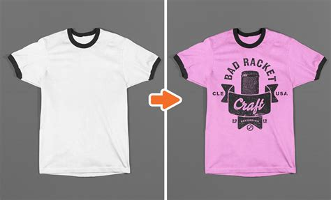 Photoshop Ringer T Shirt Mockup Templates Pack Ringer T Shirt Template