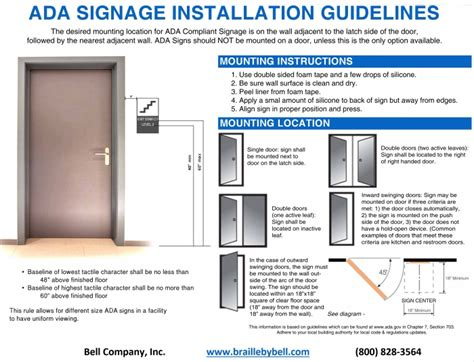 Durabell ADA Sign Systems Bell Company Inc.