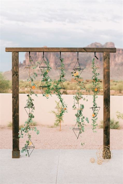 Wedding Ceremony Arbor by Geometric Ceremony Wedding Backdrop Backdrops And